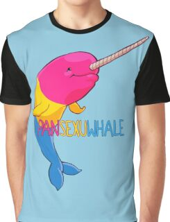 Pansexuwhale - with text Graphic T-Shirt