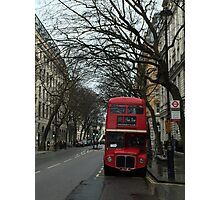 Doppeldecker Bus in January Photographic Print