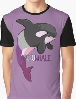 Asexuwhale - with text Graphic T-Shirt