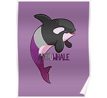 Asexuwhale - with text Poster
