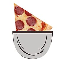 I got pizza slice in my pocket and I'm proud of it Photographic Print