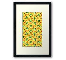 Pokemon Rayquaza Pattern Framed Print