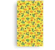 Pokemon Rayquaza Pattern Canvas Print