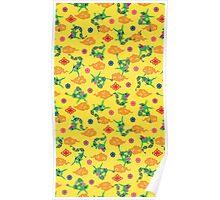 Pokemon Rayquaza Pattern Poster