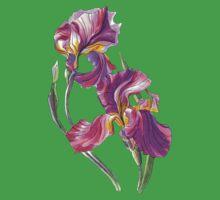 Irises-1 One Piece - Short Sleeve