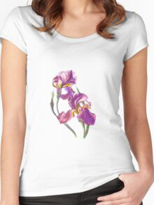 Irises-1 Women's Fitted Scoop T-Shirt