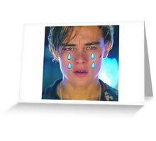Leo Cryin' Emoji Tears Greeting Card