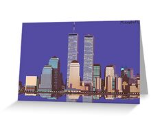 Memoirs of the World Trade Center Greeting Card