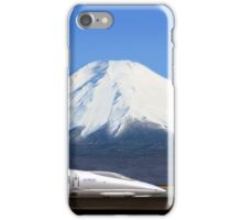 Mount Fuji and the Bullet Train JR 500, Japan iPhone Case/Skin