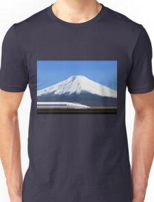 Mount Fuji and the Bullet Train JR 500, Japan Unisex T-Shirt