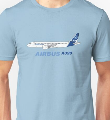 Airbus A320 Illustration Unisex T-Shirt