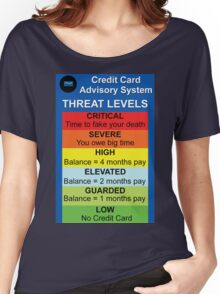 Credit Card Bill : Threat Level Women's Relaxed Fit T-Shirt