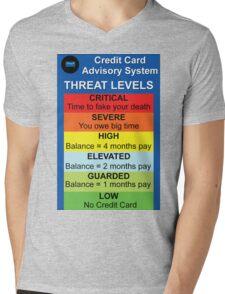 Credit Card Bill : Threat Level Mens V-Neck T-Shirt