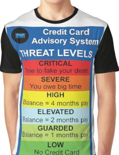 Credit Card Bill : Threat Level Graphic T-Shirt