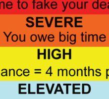 Credit Card Bill : Threat Level Sticker