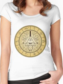 Gravity Falls Bill Cipher Wheel Women's Fitted Scoop T-Shirt