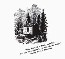 """Never Lonely"" - Thoreau at Walden by Steve Nahaj"