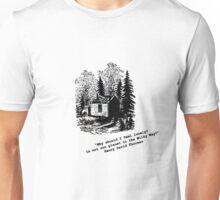 """Never Lonely"" - Thoreau at Walden Unisex T-Shirt"