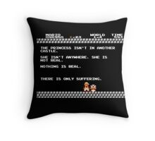 Nihilist Mario Throw Pillow