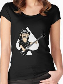 Lemmy Caricature Women's Fitted Scoop T-Shirt