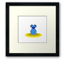 Benjamin, The Bear - Lotus Pose Framed Print