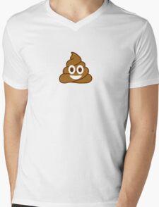 Poop Emoji Mens V-Neck T-Shirt