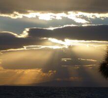 Cloudy Sun Rays Sticker