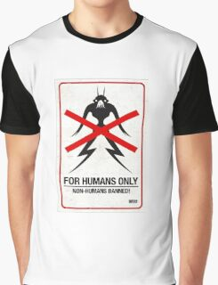 "District 9 ""For Humans Only"" Graphic T-Shirt"