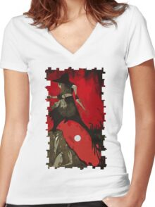 Cole Tarot Card Women's Fitted V-Neck T-Shirt