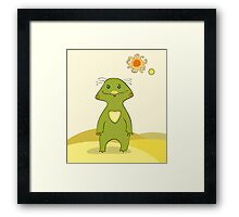 Green Monster Isolated Framed Print