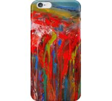 Abstract Red Poppy Field iPhone Case/Skin
