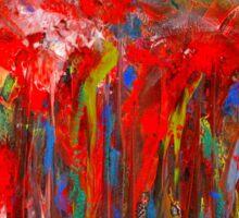 Abstract Red Poppy Field Sticker
