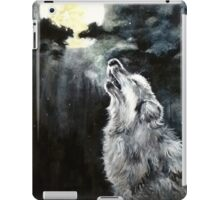 Wolf howling iPad Case/Skin