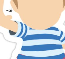 White and Blue Lucas Sticker