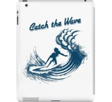 Surfer riding big wave  iPad Case/Skin
