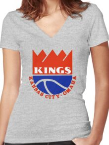 DEFUNCT - KANSAS CITY KINGS Women's Fitted V-Neck T-Shirt