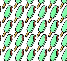 Mint Chocolate Chip Icecream Popsicles by Blkstrawberry