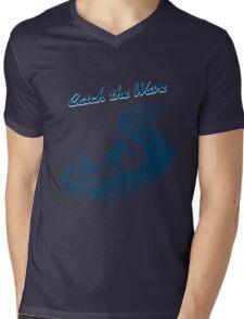 Surfer riding big wave  Mens V-Neck T-Shirt