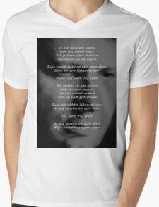 Luc de Vos leeft Mens V-Neck T-Shirt