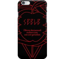 SEELE Rebuild of Evangelion Red Black Logo Graphic iPhone Case/Skin