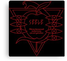 SEELE Rebuild of Evangelion Red Black Logo Graphic Canvas Print