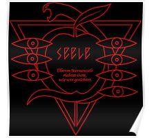 SEELE Rebuild of Evangelion Red Black Logo Graphic Poster