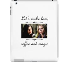 Let's make love, coffee and magic iPad Case/Skin