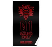 SEELE Red 01 Keel Lorenz Logo Evangelion Graphic Poster
