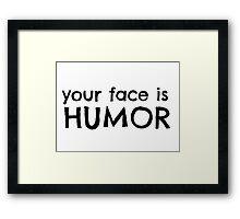 Funny Cool Joke Framed Print