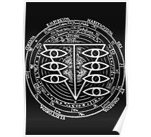 Seele Black Fancy Mandala Evangelion Logo Graphic Poster