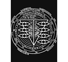 Seele Black Fancy Mandala Evangelion Logo Graphic Photographic Print