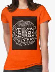 Seele Black Fancy Mandala Evangelion Logo Graphic Womens Fitted T-Shirt