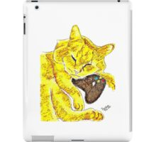Sleepy Yellow Kitty with Gaming Controller  iPad Case/Skin