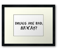 South Park M'Kay Quotes Framed Print